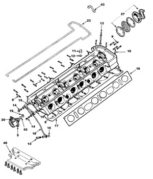 E Type Ser2 Engine Cylinder Head