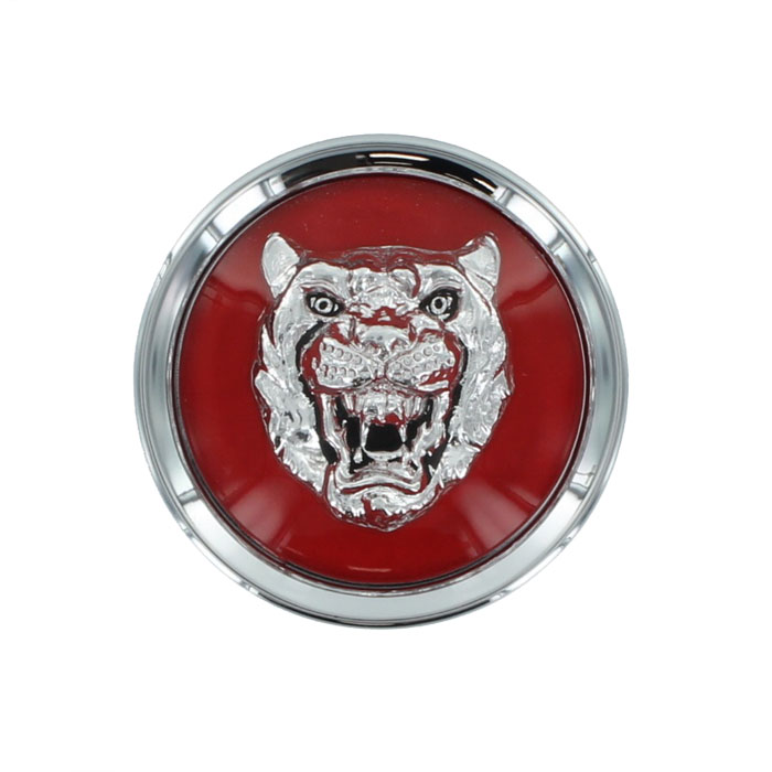 BADGE, ROAD WHEEL (SUPERCHARGED) (SILVER - RED)