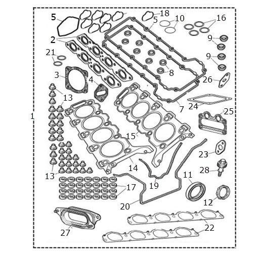 2002 Lincoln Continental Head Gasket: Cylinder Head Gasket Set: Terrys Jaguar Parts