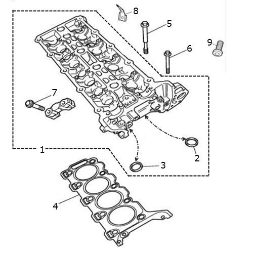 2002 Lincoln Continental Head Gasket: Cylinder Head And Gasket