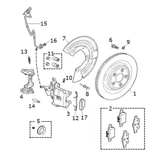 disc and caliper - rear
