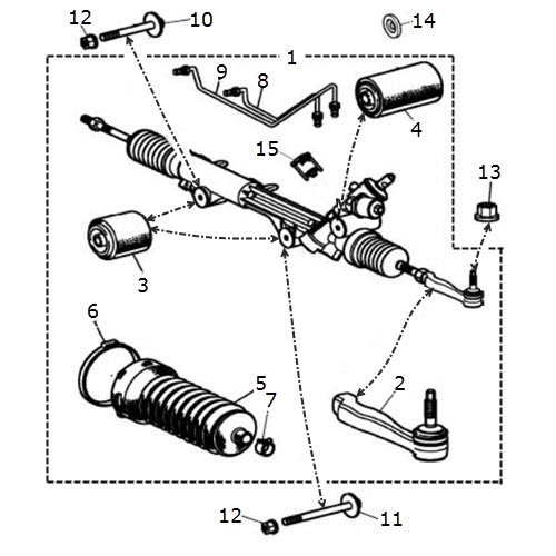 Steering Rack And Pinion From Vin M45255 Terrys