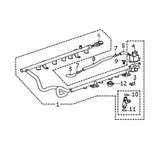 fuel rail  injectors  u0026 regulator