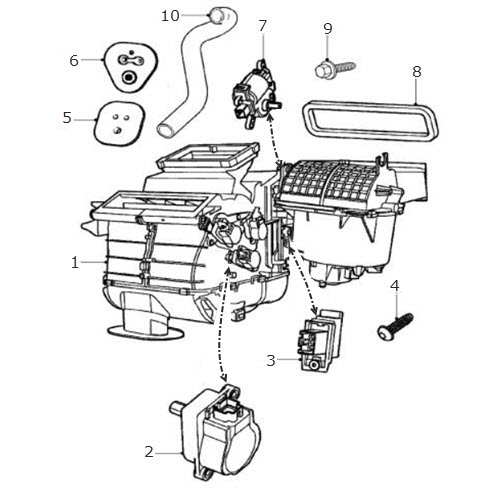 air conditioning and heater unit terrys jaguar parts rh terrysjag com How Air Conditioners Work Diagram Air Conditioner Parts