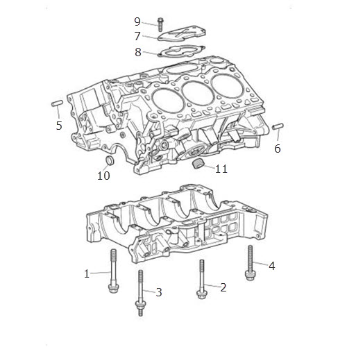 cylinder block and bedplate