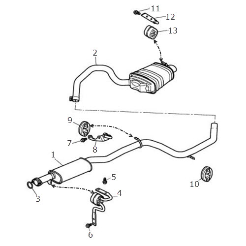 exhaust pipe - rear