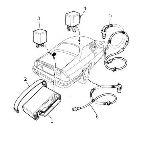 antilock braking system electrics  terrys jaguar parts