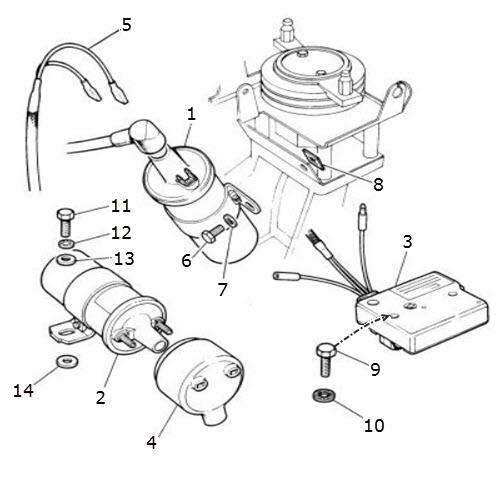 ignition coils and amplifier  terrys jaguar parts