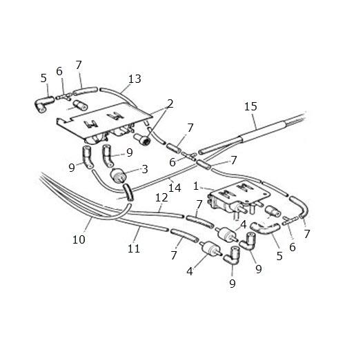 vacuum solenoids  u0026 pipes  terrys jaguar parts