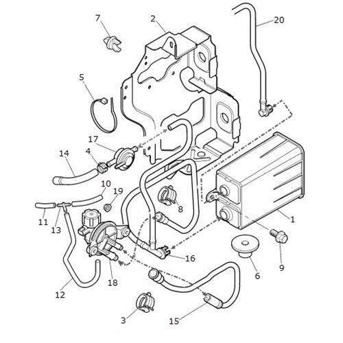Carbon Canister Single System Without Running Loss: 2000 Jaguar Xk8 Engine Diagram At Sergidarder.com