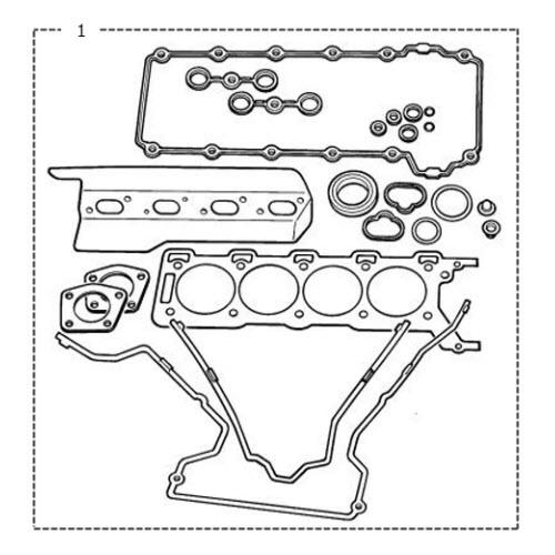 2002 Lincoln Continental Head Gasket: Cylinder Head Gasket Set V8: Terrys Jaguar Parts