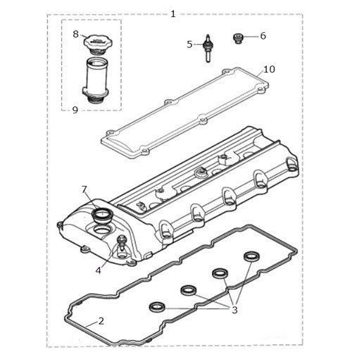 Camshaft Cover And Gasket 4 0 Liter V8 Terrys Jaguar Parts