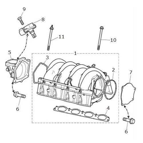 Inlet Manifold 4 0 Liter V8 Terrys Jaguar Parts