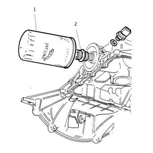 oil filter 4 liter v8 terrys jaguar parts  illustration oil filter 4 liter v8
