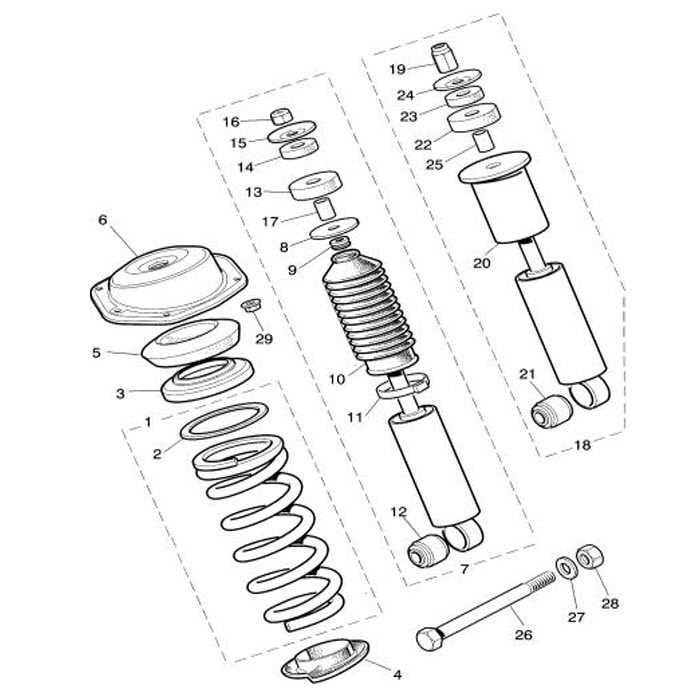 road spring and damper