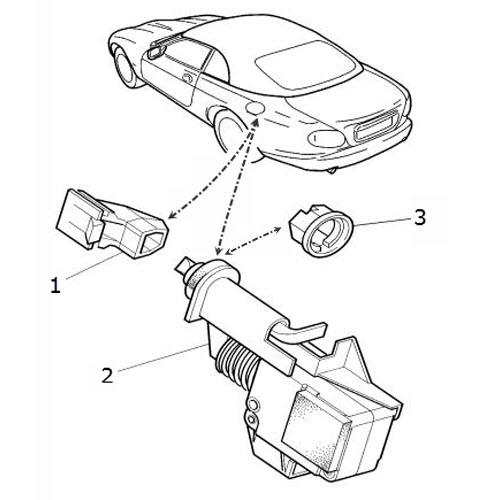 filler latch and mechanism  terrys jaguar parts