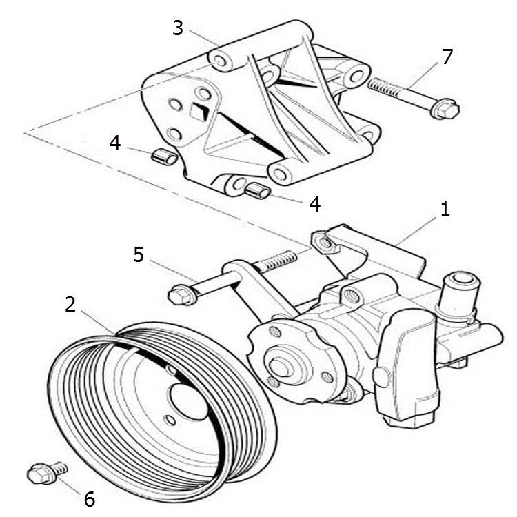 power steering pump  terrys jaguar parts