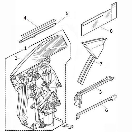 quarter glass regulators - rear